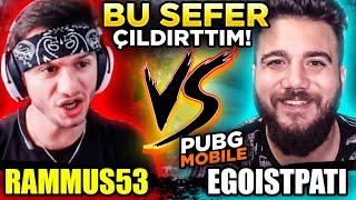 RAMMUS53 SİNİRDEN ÇILDIRDI! İDDİALI VS ATTIK! PUBG Mobile Komik Anlar