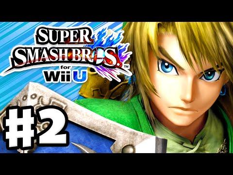 Super Smash Bros. Wii U - Gameplay Walkthrough Part 2 - Link! (Nintendo Wii U Gameplay)
