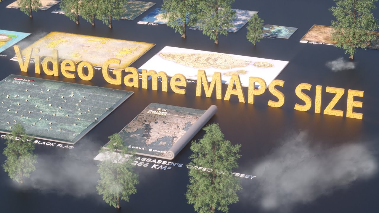 VIDEO GAME Maps Size Comparison | 2019 ?