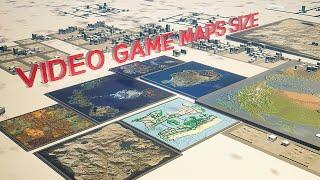 VIDEO GAME Maps Size Comparison | 2019 🗾