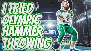 STRONGMAN TRIES OLYMPIC HAMMER THROWING!