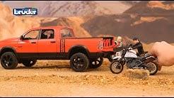 Bruder Toys RAM 2500 Power Wagon w/ Scrambler Ducati Desert Sled #02502