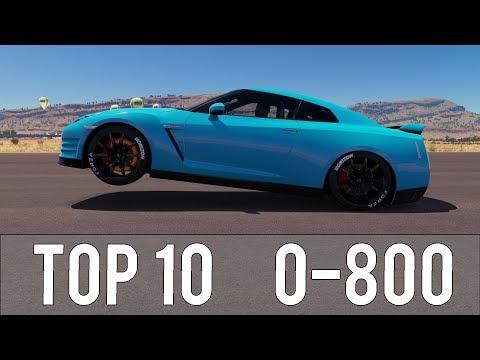 Forza Horizon 3 - TOP 10 FASTEST 0-800 CARS! CRAZY ACCELERATIONS! thumbnail