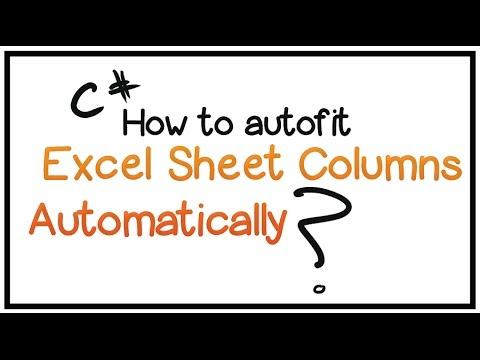 How To Edit Excel Worksheet Using C# -Part 2- (Autofit Excel Sheet ...