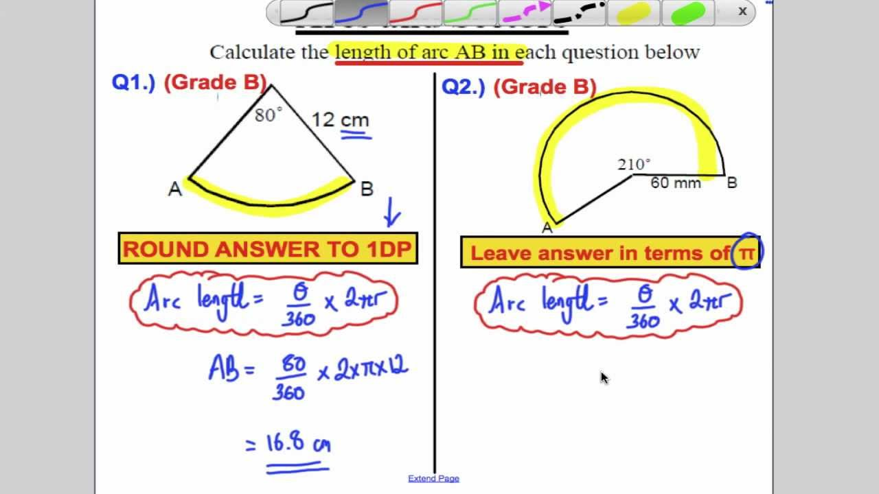Gcse sectors of circles and arc lengths youtube ccuart Gallery