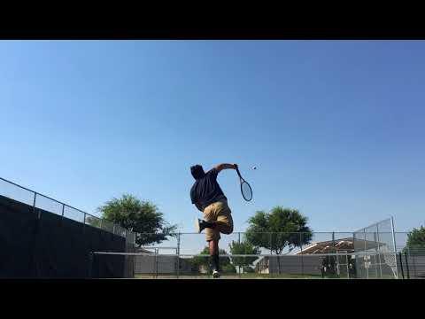 Orange cove high school varsity tennis #3 serving