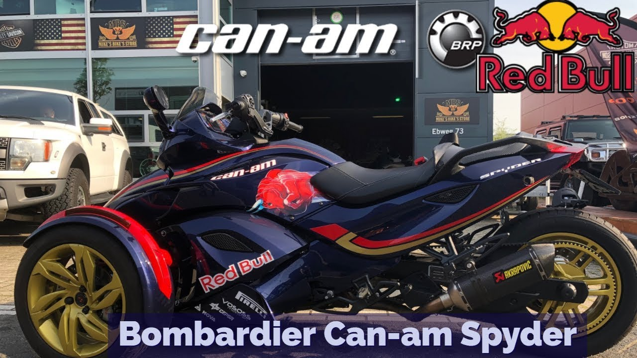 can am spyder dual akrapovic exhaust max verstappen red bull can am 2014 spyder bombardier