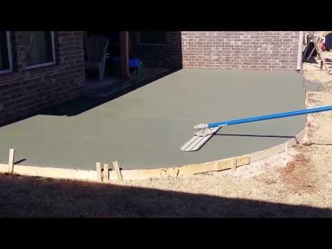 Concrete Patio install in Edmond Oklahoma | #okcconcrete | C