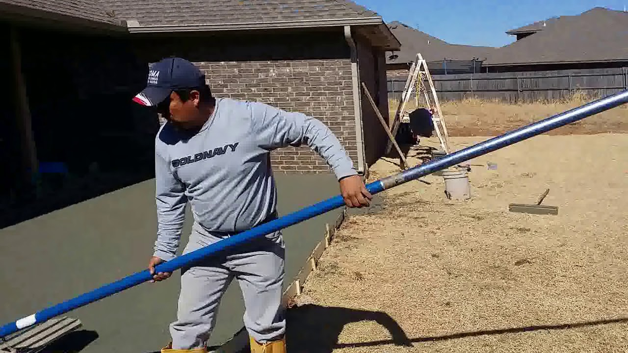 Concrete Patio Install In Edmond Oklahoma | #okcconcrete | Concrete Piedmont