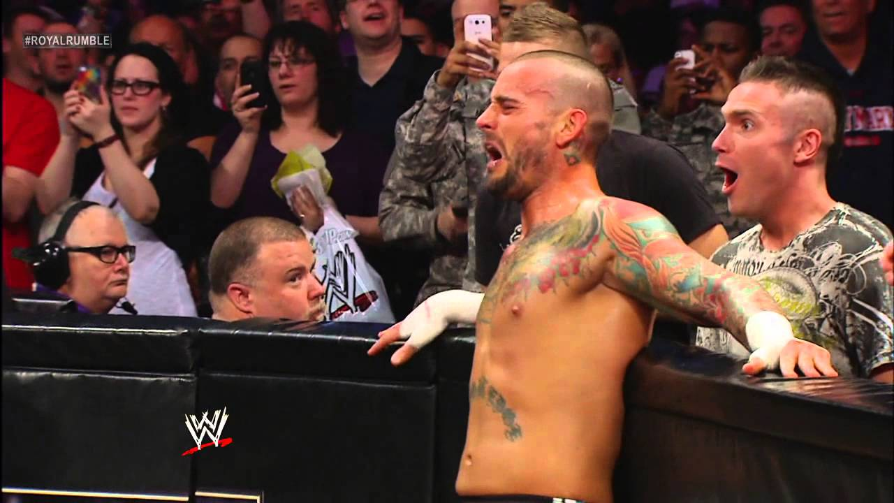 The rock vs cm punk wwe championship match royal rumble 2013 cm punk wwe championship match royal rumble 2013 youtube voltagebd Image collections