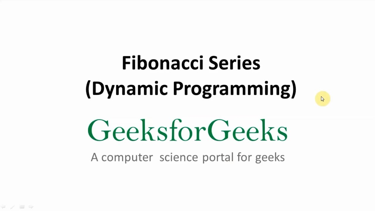 Program for Fibonacci numbers - GeeksforGeeks