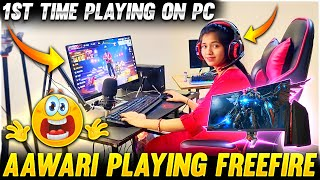 AAWARI Playing 1st Time on Pc - New ₹ 2,00,000 Pc Challenge 😍 | Free Fire