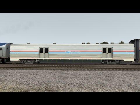 Amtrak Viewliner Baggage Car Compilation - Railworks