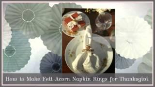 Top 10 Diy Thanksgiving Napking Rings