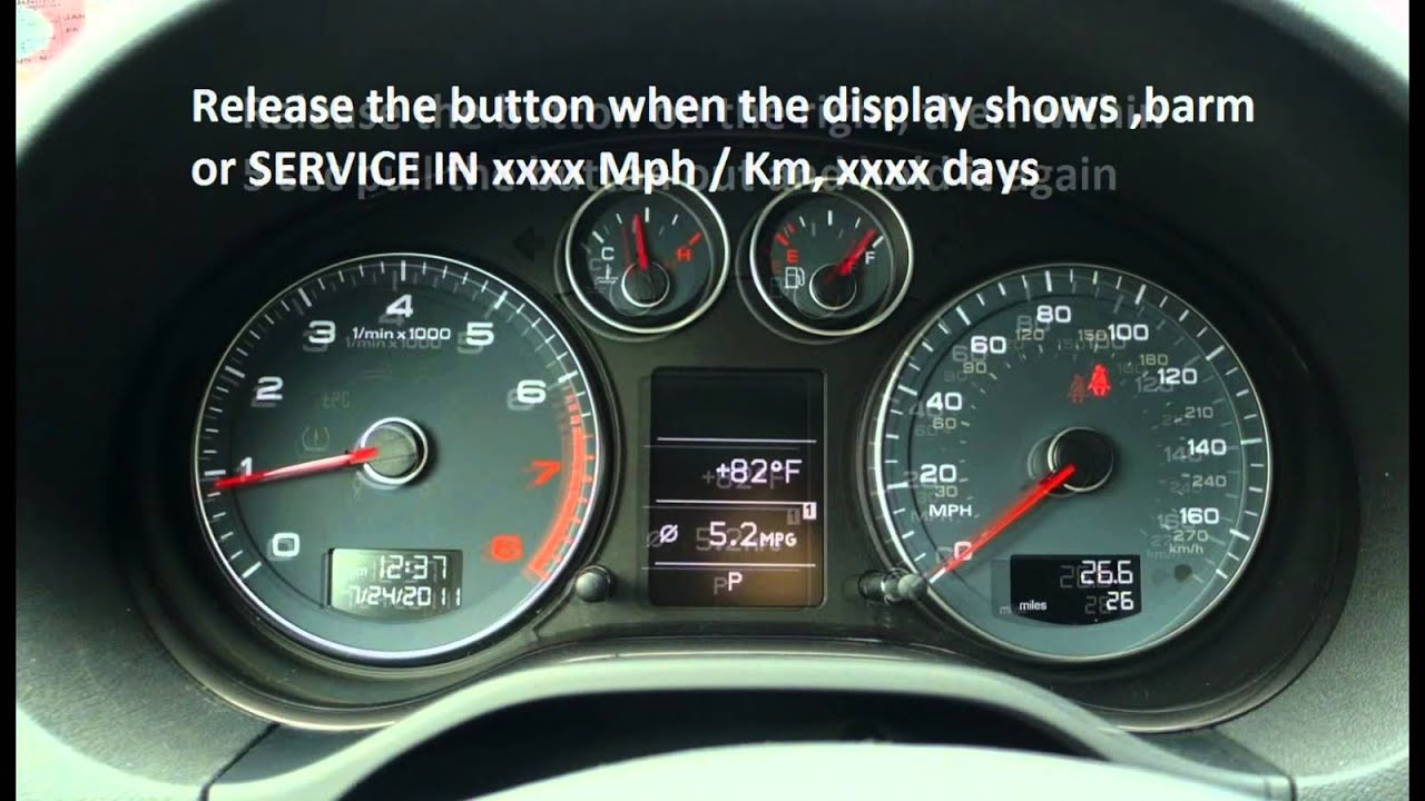 how to reset service light indicator audi a3 2003 2009 youtube. Black Bedroom Furniture Sets. Home Design Ideas