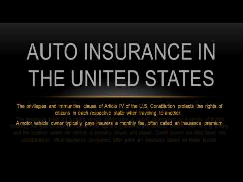 Auto Insurance in the United States and elsewhere