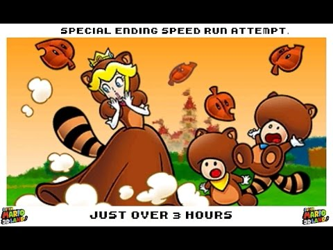 Super Mario 3D Land Special Ending speed run attempt in over 3 hours. (made in early 2014)