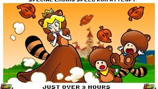 super mario 3d land special ending speed run attempt in over 3 hours made in early 2014