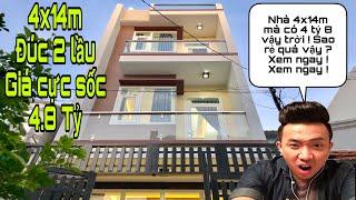 Bán nhà Gò Vấp | Nhà Gò Vấp siêu rẻ|diện tích 4x14m|thiết kế cực đẹp|giá 4.8 tỷ