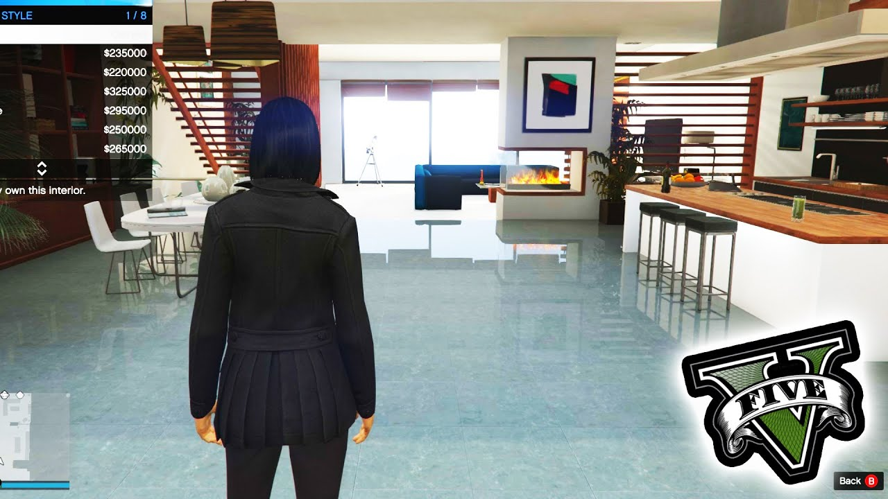 Gta 5 new penthouse all interior designs youtube for Designer apartment gta 5