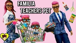 La Familia LOL Teachers Pet Compra Nuevos Utiles Escolares Miniatura