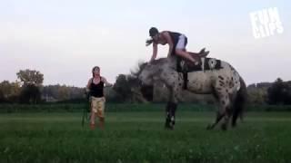 Падения с лошадей. Horse Fails . FunClips