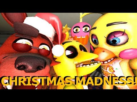 [FNAF SFM] Christmas Madness at Freddy Fazbears Pizzeria Ft Baby Foxy and My Cupcake Animation