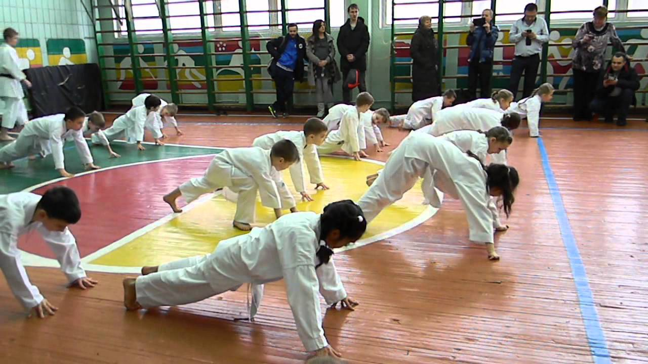 сдача на пояс по карате киокушинкай детях Пресвятая Владычица
