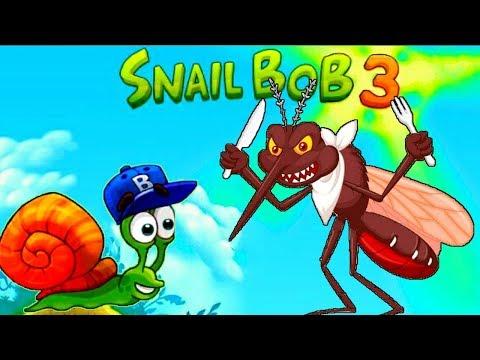 Супер УЛИТКА БОБ №6 10 УЛИТКА против КОМАРА Часть 3 Игра Snail Bob 3 ВГуВИКИ