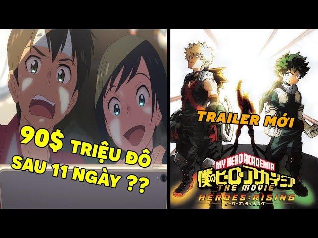 Bản Tin Anime: Tenki no Ko Vượt Mặt YourName? | Ngày Phát Sóng Movie My Hero Academia