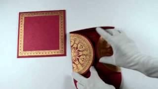 D-3323, Pink Color, Handmade Paper, Odd Shape Cards, Designer Multifaith Invitations