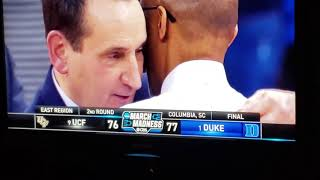 Duke vs Central Florida UCF Final Minutes Live Reaction  Road to Sweet 16 Zion vs Tacko