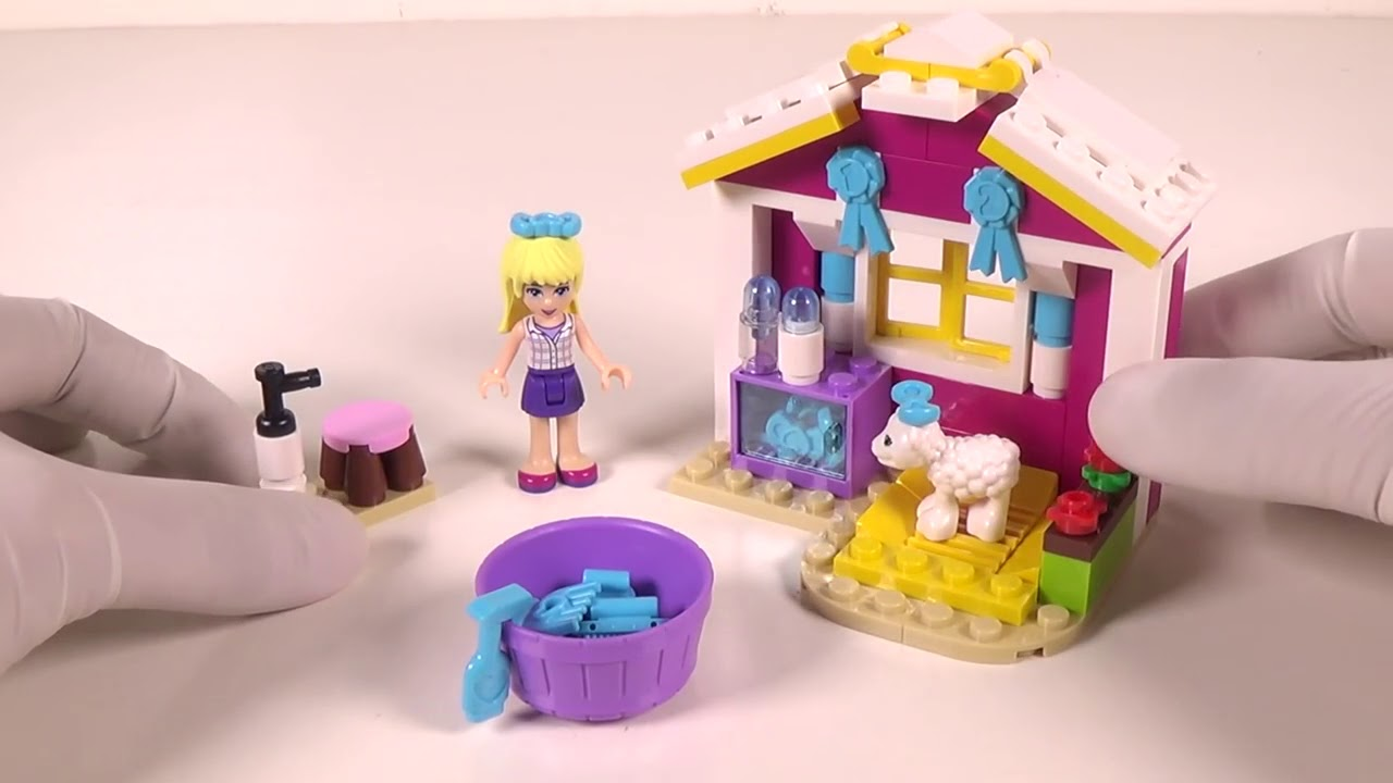 Lego Friends 41029 Stephanies Newborn Lamb Toy Unboxing Build And