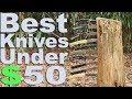 Best Budget Pocket Knife Recommendations under $50.  Buck, Mercator, Kershaw, Spyderco