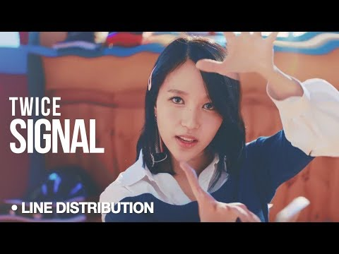 TWICE (트와이스) - Signal : Line Distribution (Color Coded)