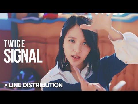 TWICE 트와이스 - Signal : Line Distribution Color Coded