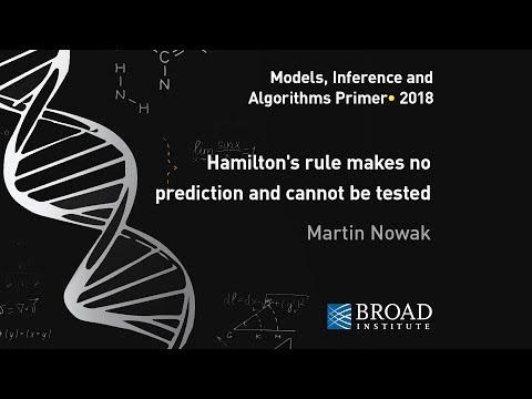 MIA: Martin Nowak, Hamilton's rule makes no prediction and cannot be tested empirically