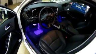 Подсветка салона автомобиля Kia Optima(Интелектуальная подсветка салона автомобиля Kia Optima с возможностью выбирать цвет (Многоцветная RGB подсветка..., 2016-03-02T21:17:05.000Z)