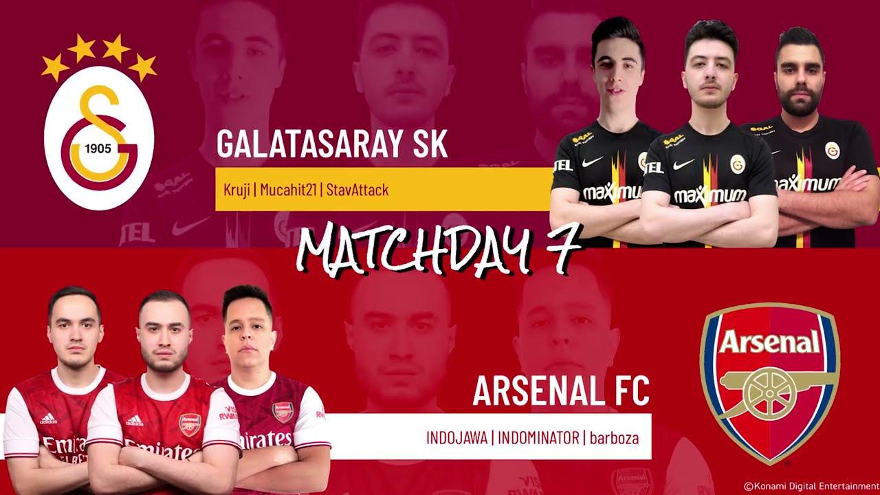 Galatasaray Sk Vs Arsenal Fc Highlights Matchday 7 Efootball Pro Iqoniq 2020 2021 Youtube