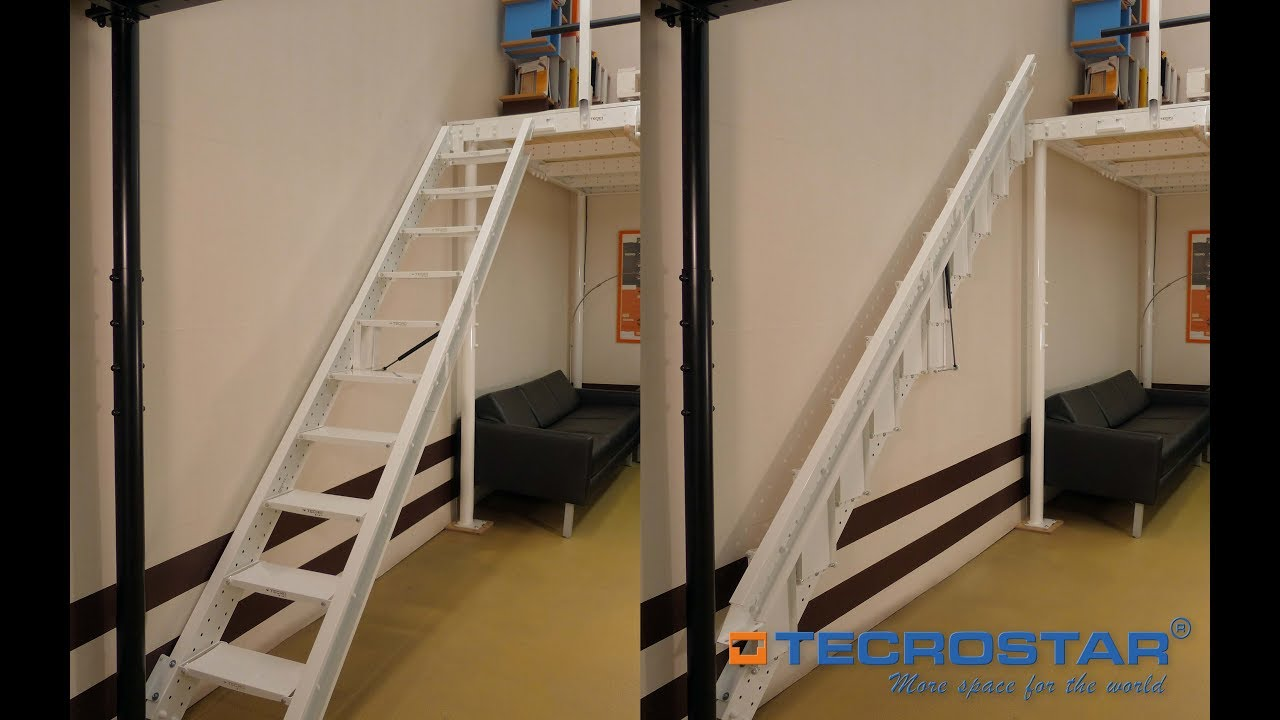 fotos en la pared Folding Stairs To Wall Tecrostar