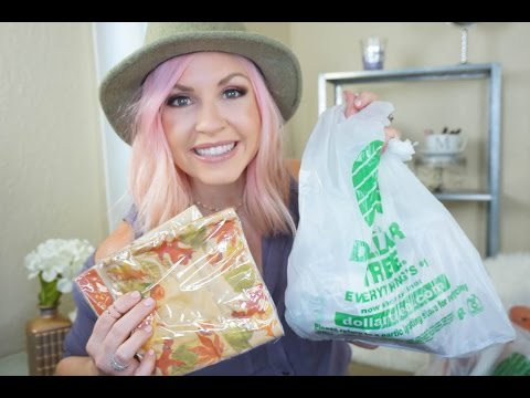 *BIG Fall Dollar Tree Haul| Home Decor & Goods| Megan Navarro