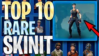 10 HARVINAISINTA RARE SKINI! - FORTNITE TOP 10