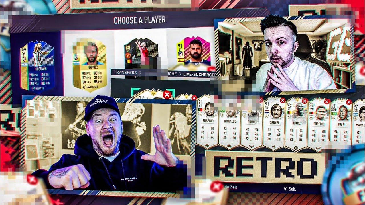 Das Erste RETRO ICON DISCARD FUT DRAFT BATTLE  😱 vs GAMERBROTHER FIFA 18/21