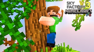 PENDURADO NO TRONCO ( ͡° ͜ʖ ͡°)  !! Sky Factory 3 #1 - Minecraft 1.10.2 FTB MODpack