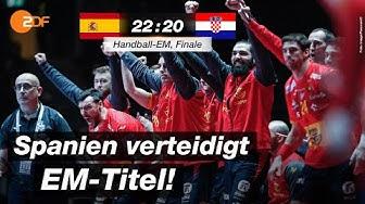 Finale: Spanien - Kroatien 22:20 - Highlights | Handball-EM 2020 - ZDF
