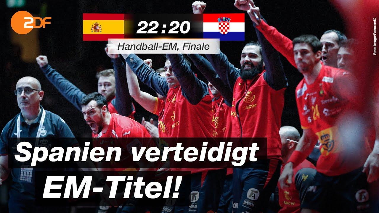 finale spanien kroatien 22 20 highlights handball em 2020 zdf