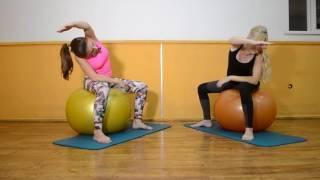 Гимнастика для беременных (на фитболе) Упражнения для беременных дома(В этом видео мы покажем комплекс упражнений для наших будущих мамочек ., 2016-08-07T11:18:17.000Z)