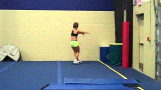 Whitney Love- Backhandspring arabian through double double