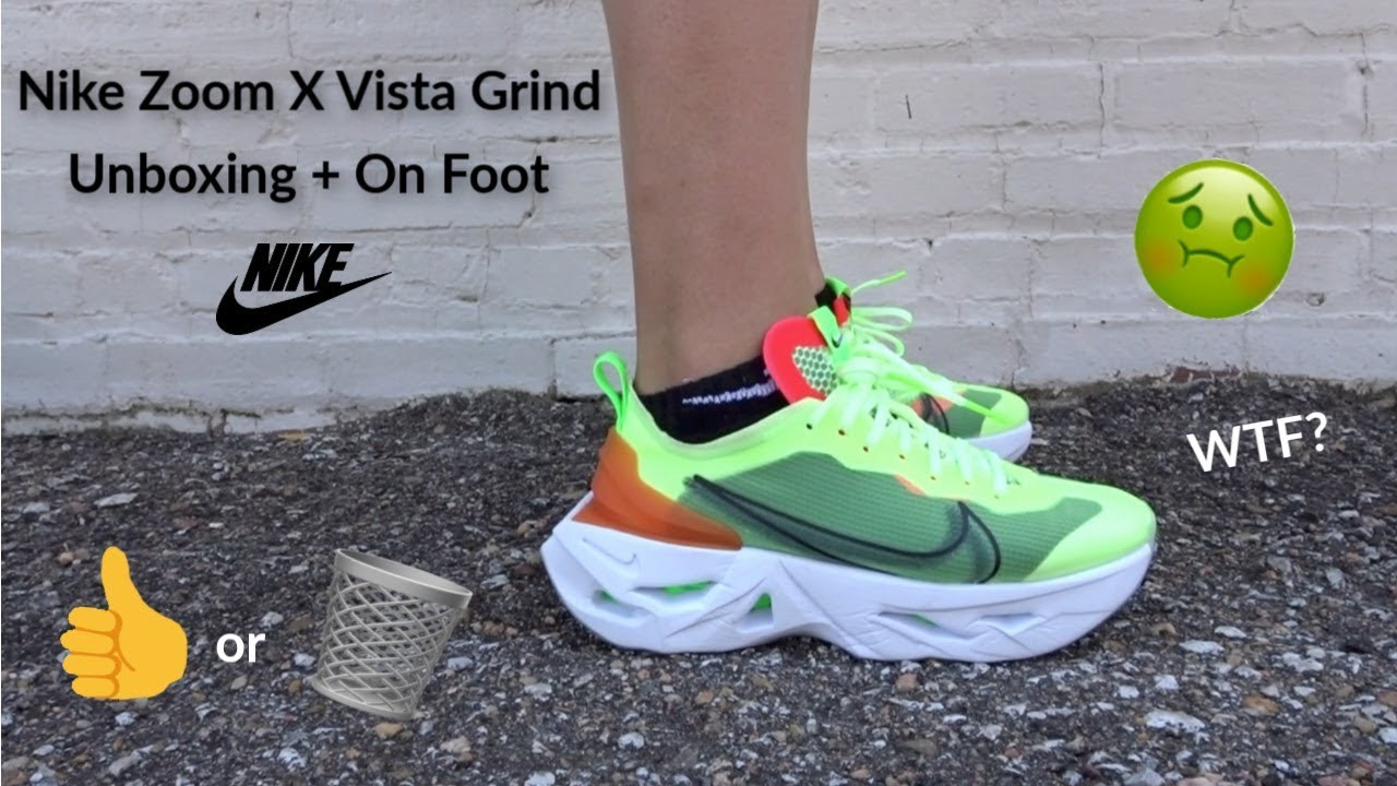 Recitar dentro Entender mal  Nike Zoom X Vista Grind Unboxing + Review + On Foot Try-on - YouTube