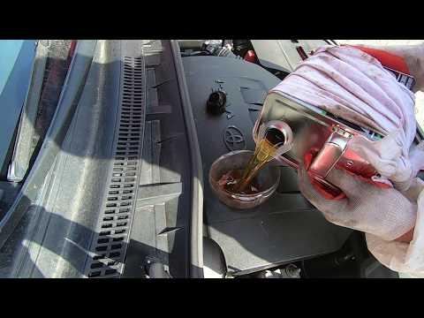 Замена масла и фильтра ДВС Toyota Corolla 150